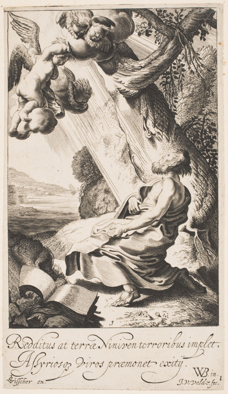 Calling of Jonah  , Early 17th century, by Jan van de Velde II, Dutch from the  Philadelphia Museum of Art