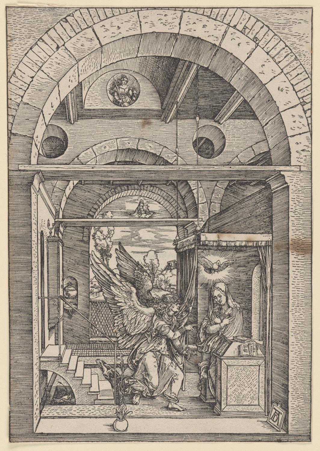 The Annunciation  , c. 1503, Albrecht Dürer, German, from  the   Philadelphia Museum of Art