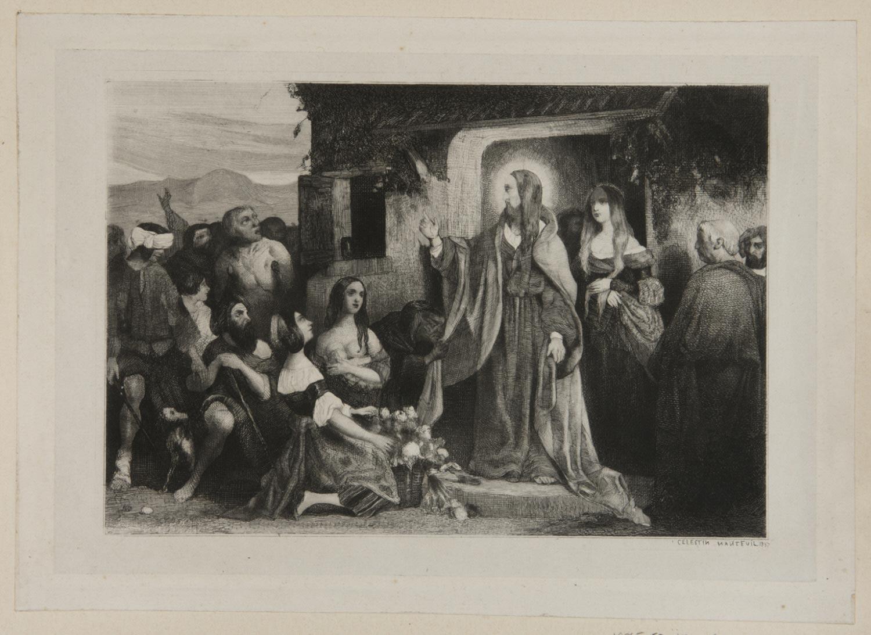 Christ Healing the Sick  , 1837, by Céléstin François Nanteuil, French.  Philadelphia Art Museum