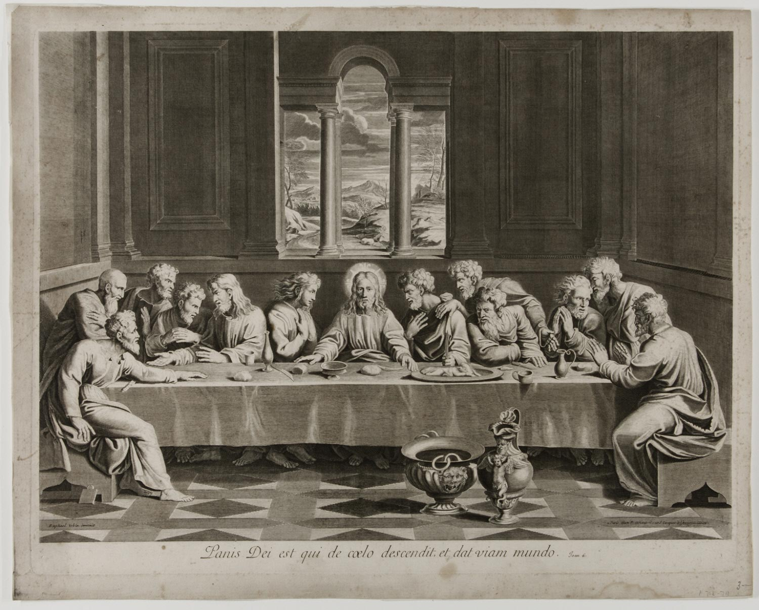 The Last Supper  , after 1703, Artist/Maker unknown, French, from the  Philadelphia Museum of Art .