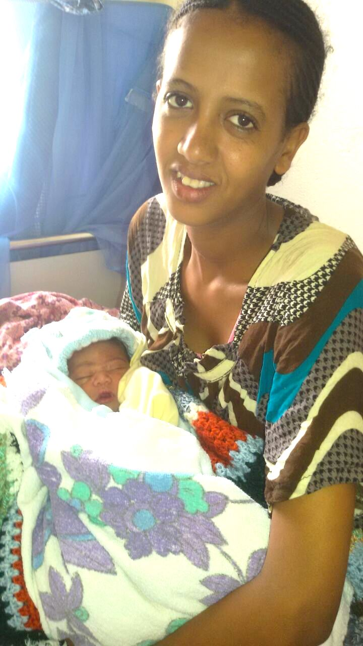 Nebyat and her baby girl