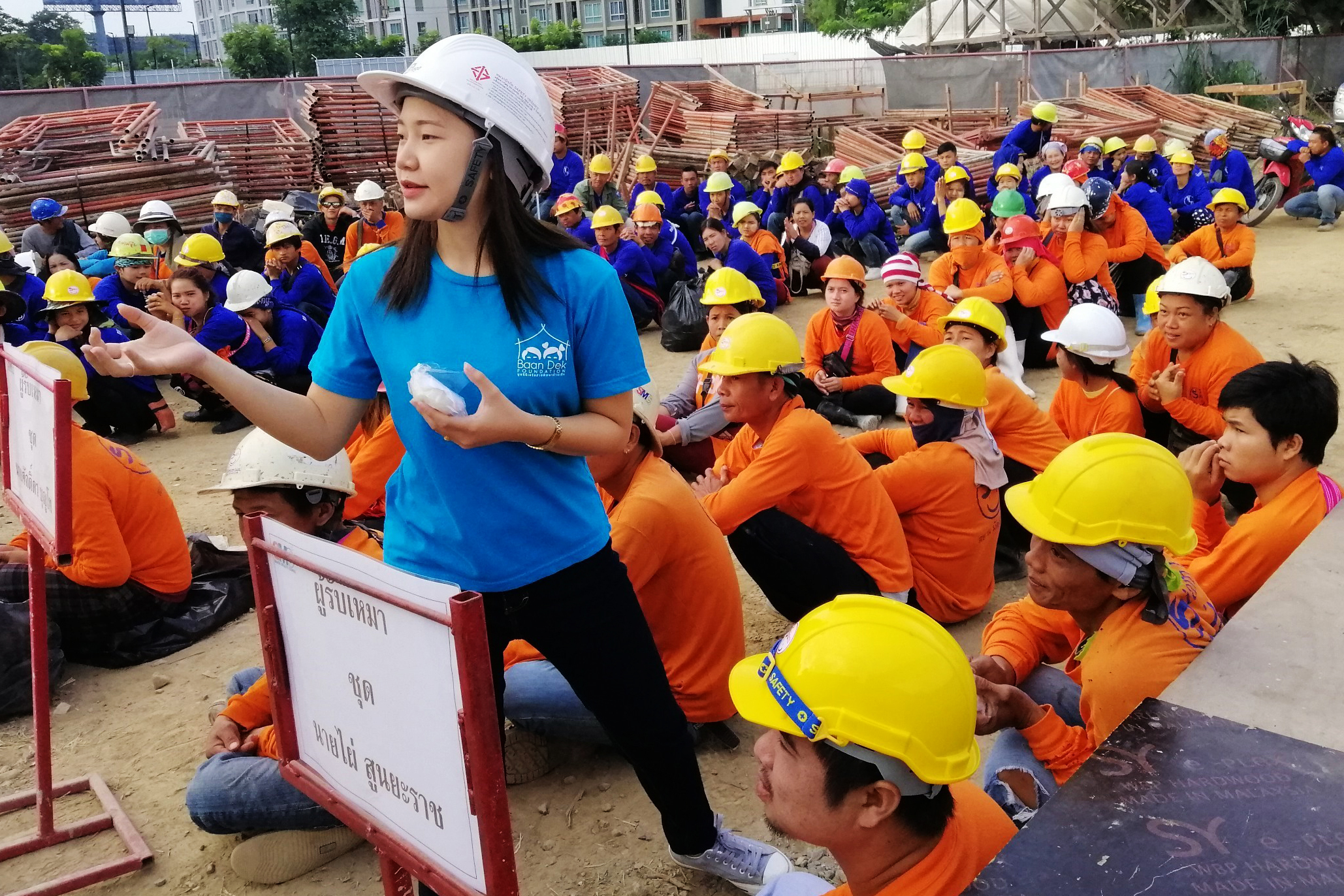 Morning Awareness Session with construction workers
