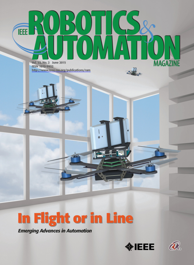 June 2015 Cover Article in a Robotics & Automation Magazine - a leading trade publication.