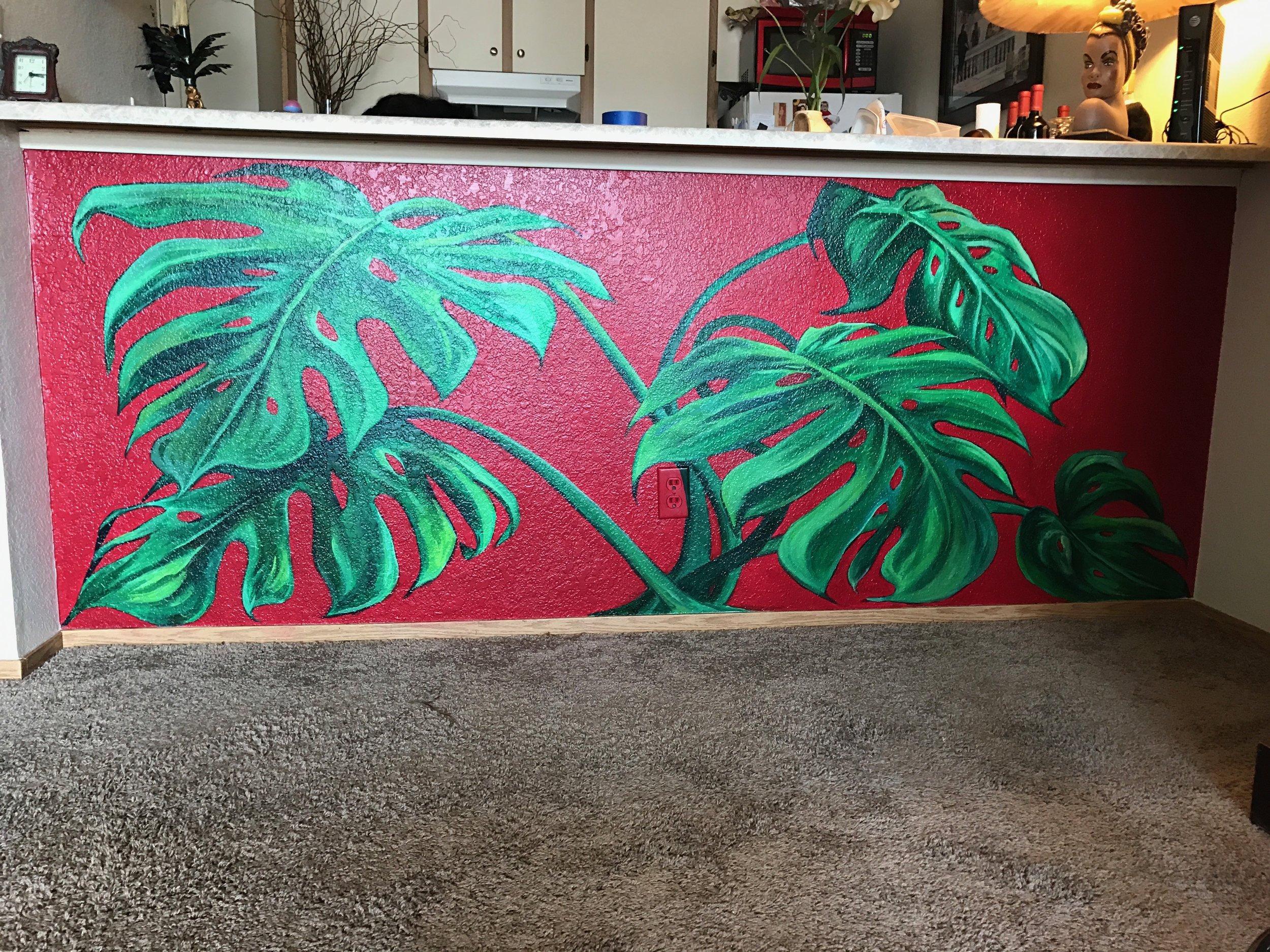 Monstera Mural