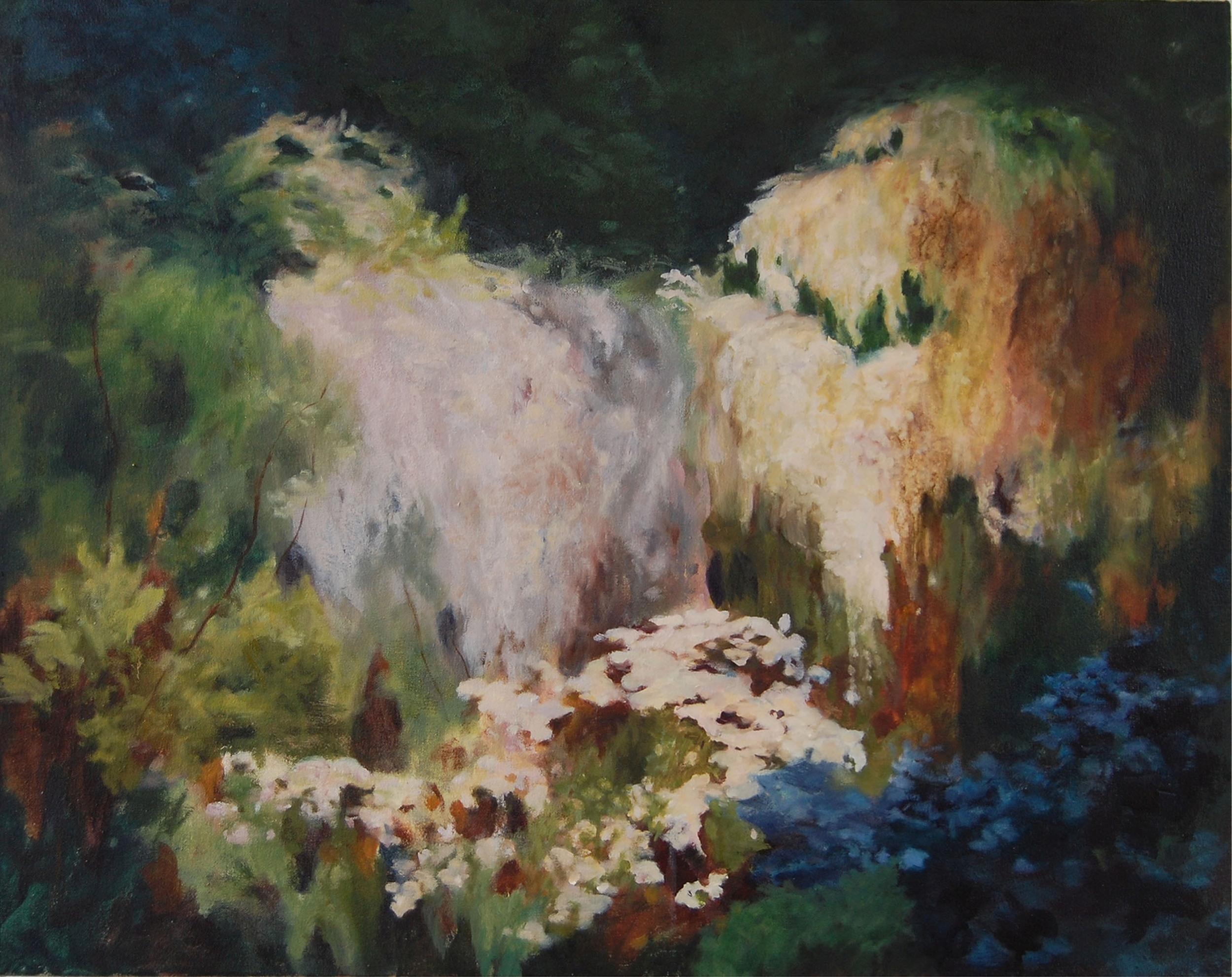 Cascade,  oil on canvas, 60 x 70 cm