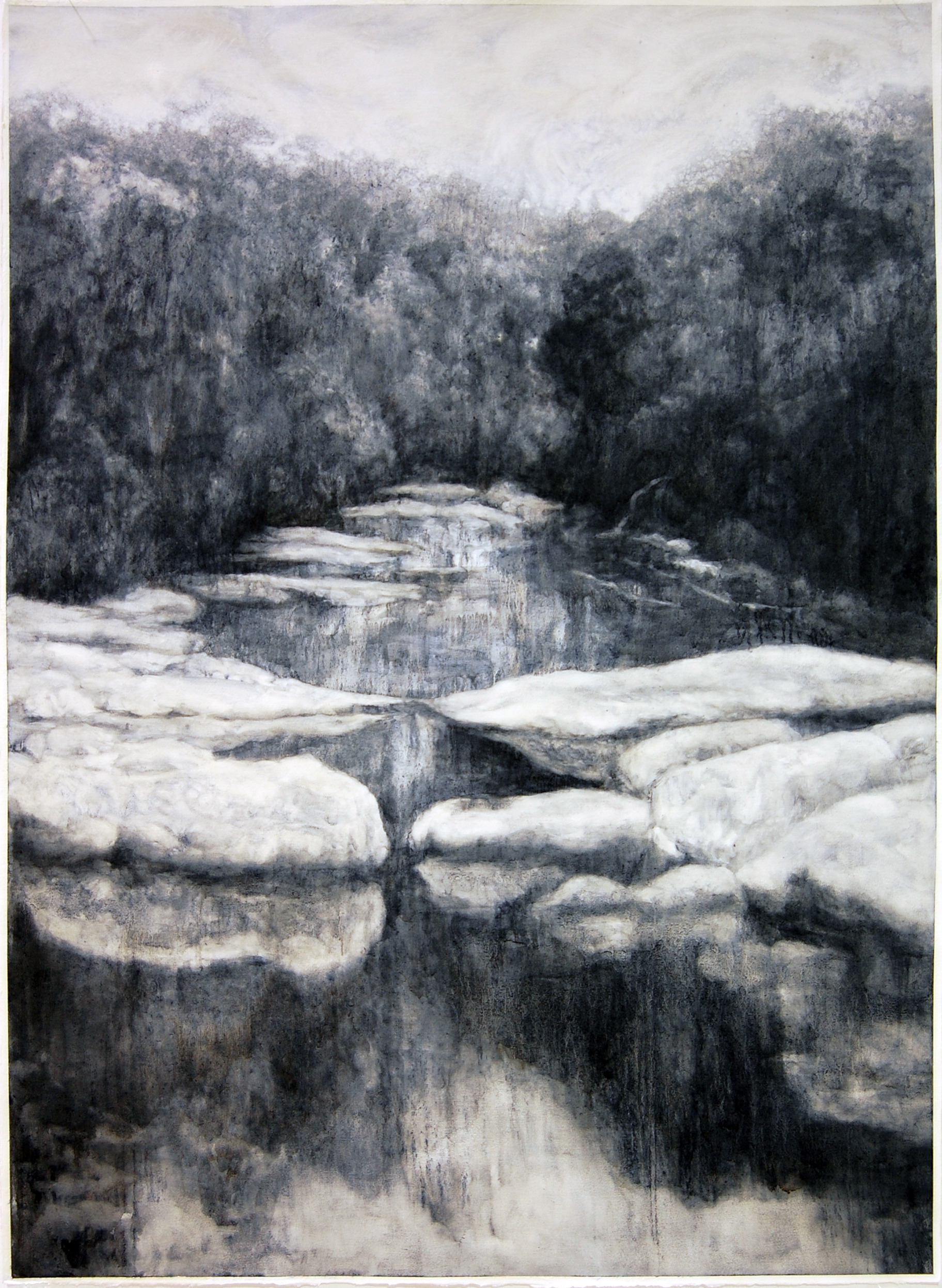 Frankland, 2017, Oil on paper, 105 x 85cm