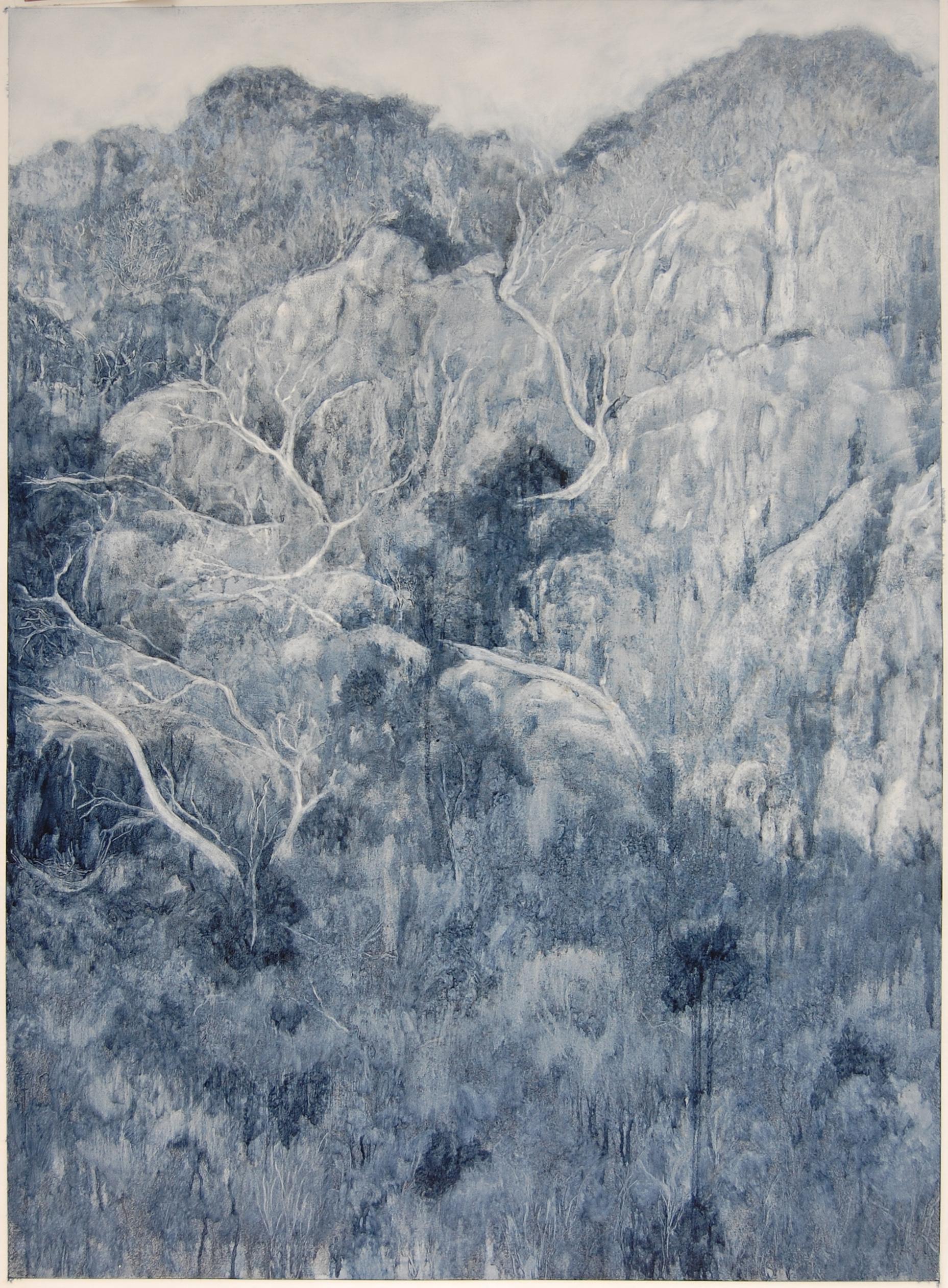Outcrop, 2018, Oil on paper, 105 x 85cm