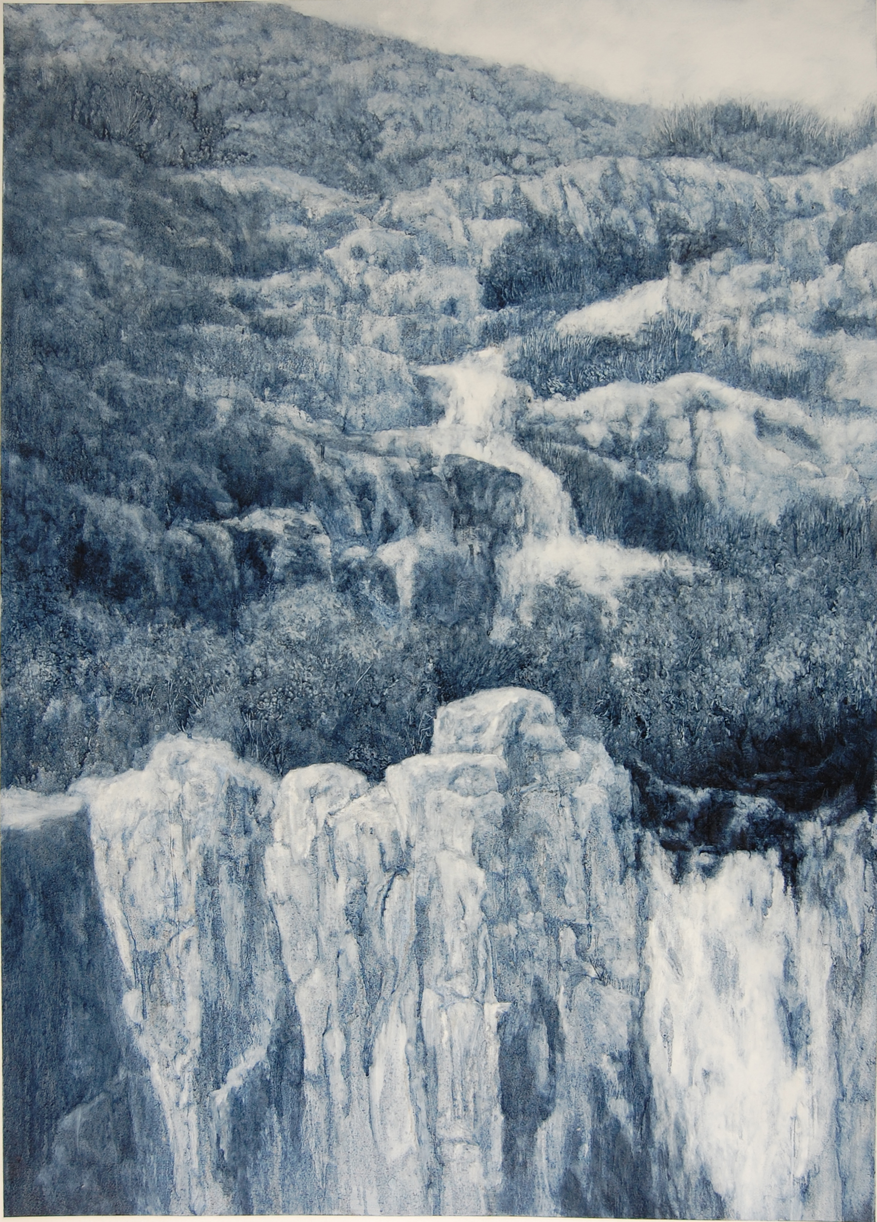 Winter Falls, 2018, oil on paper, 105 x 85cm