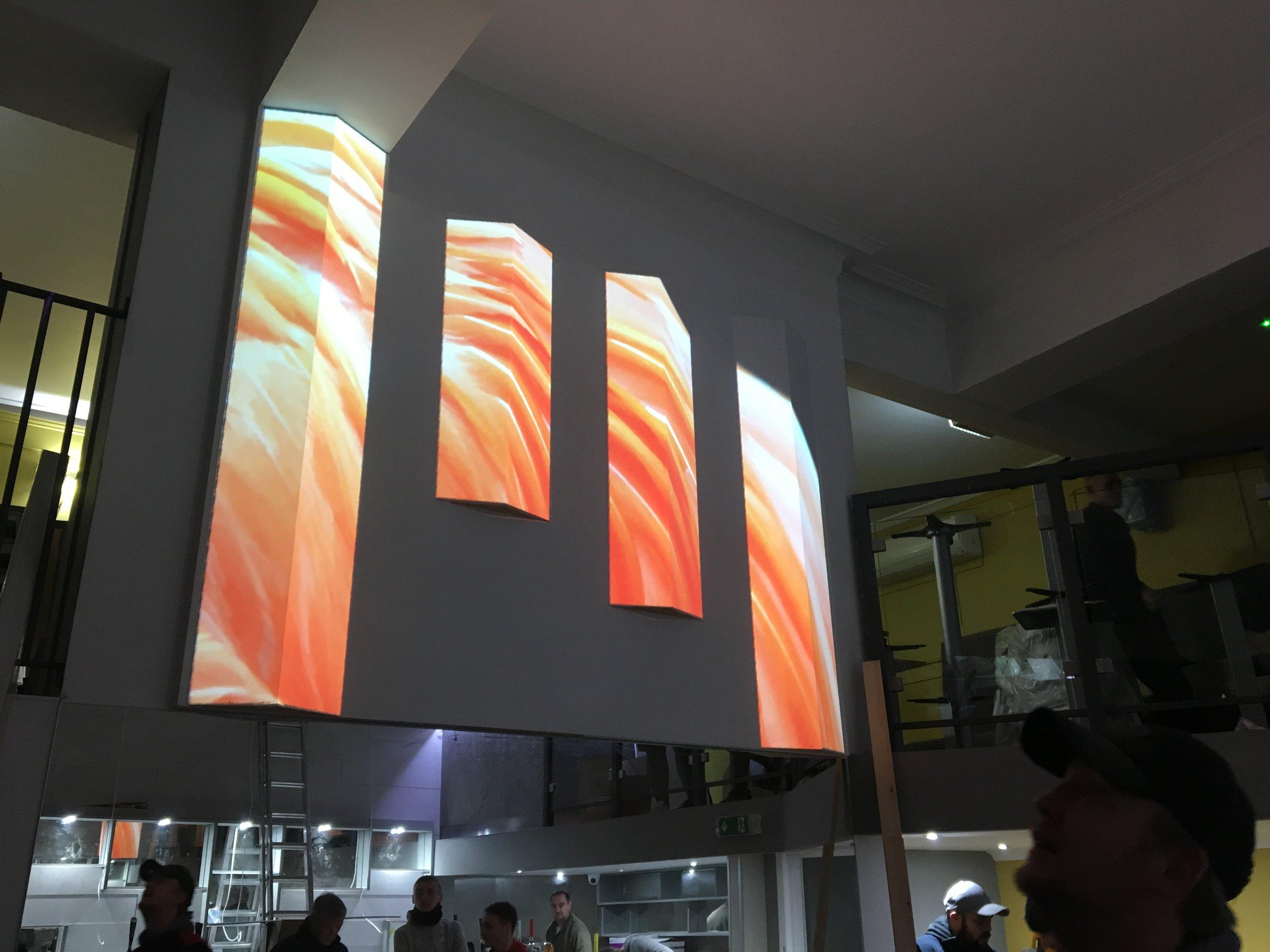 Projection Mapping installation - Cafe Habana Edinburgh