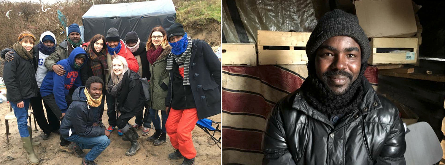 Handmade snoods donated to refugees in the Calais 'Jungle' by volunteers from  The Worldwide Tribe