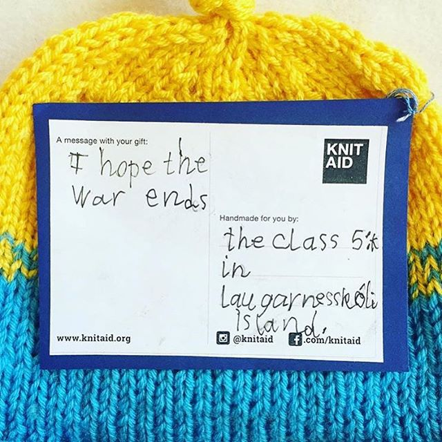 We hope so too #knitaidmessages #knitaidforrefugees
