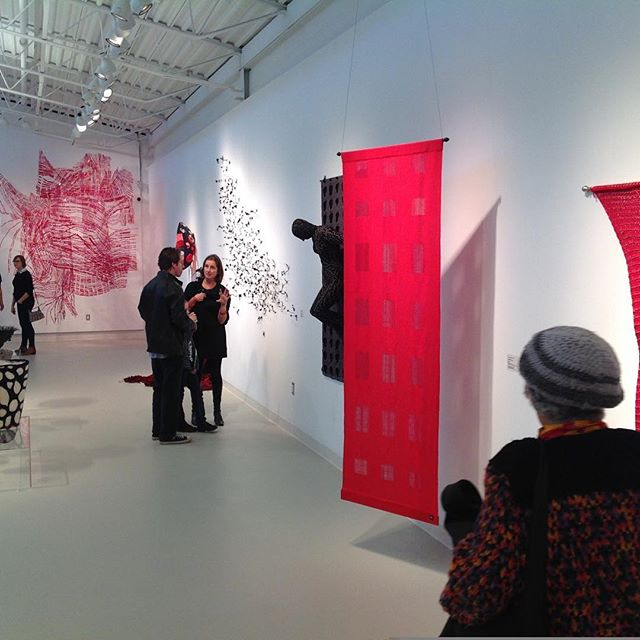 Red Wall #fiberartist #textile #tapestry #fiber #fiberart