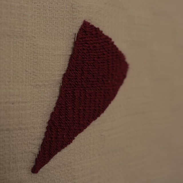Red Triangle detail #2 #fibreartist #textile #tapestry