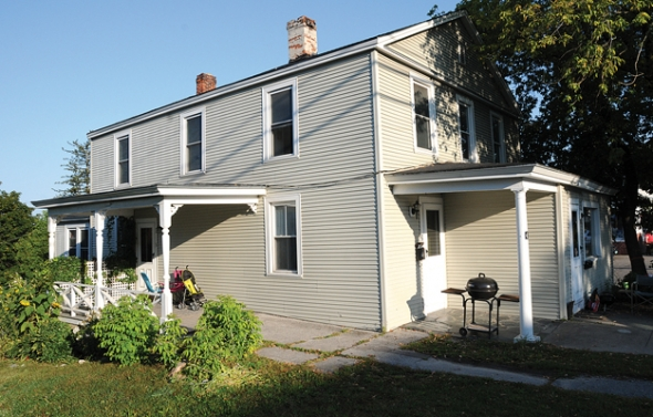 THE JOHN GRAHAM Shelter is marking its 35th year with a new organizational name and the acquisition of this apartment building on North Pleasant Street in Middlebury. Independent photo/Trent Campbell