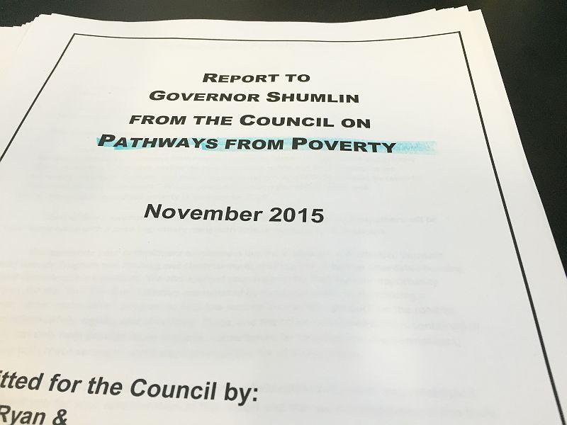 The Council on Pathways from Poverty presented their report to Governor Shumlin recently