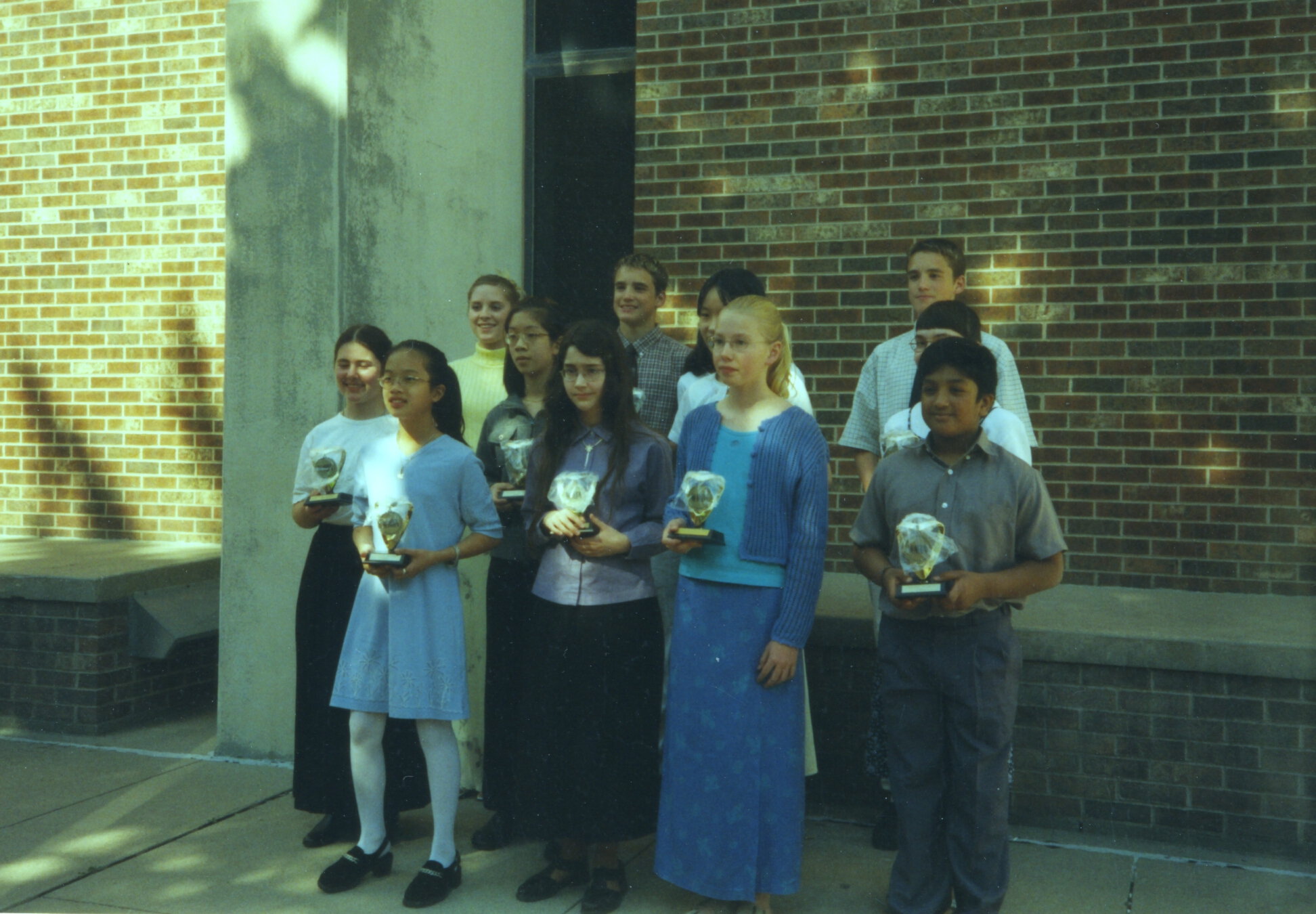 Bruce Clark's students with their awards from the WMTA state piano competition