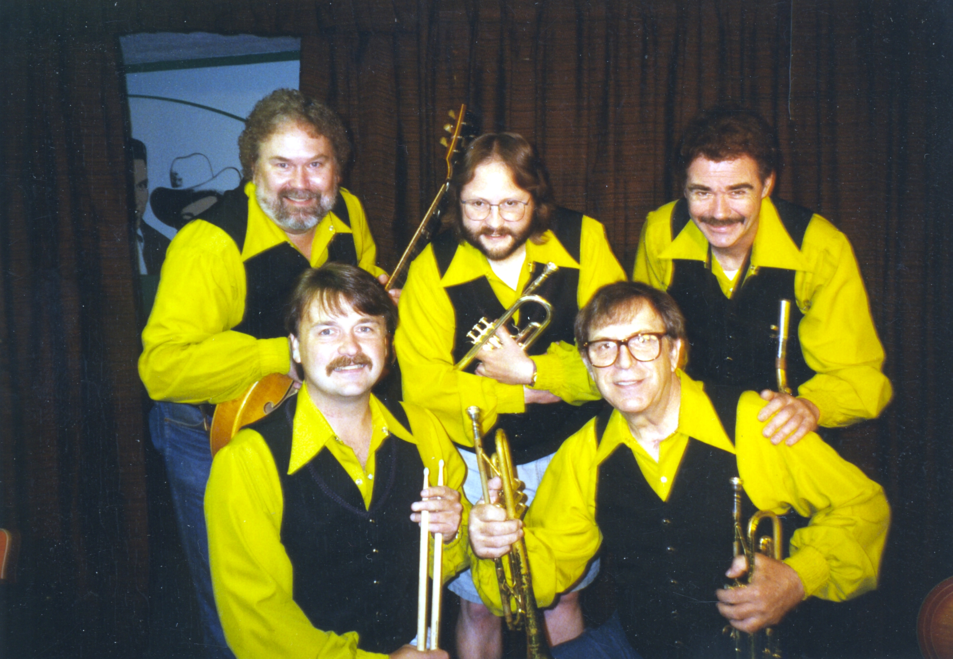 Bruce Clark with fellow members of the Skip Wagner Show