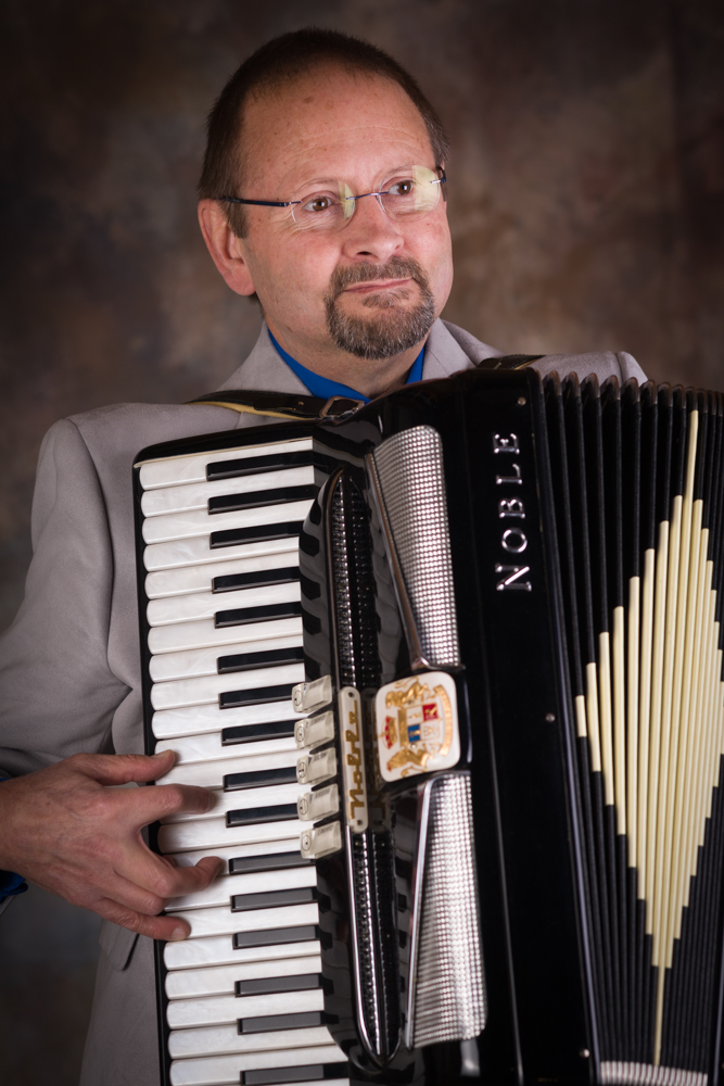 Bruce Clark playing the accordion