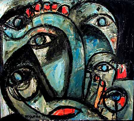 "Self You, 1999  40 x 36"". Acrylic on canvas"