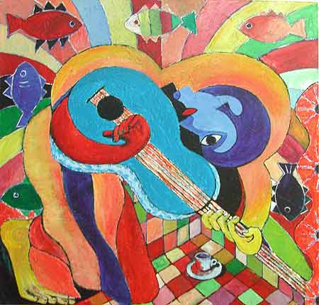 "Untitled, 2004 40 x 40"". Acrylic on canvas"