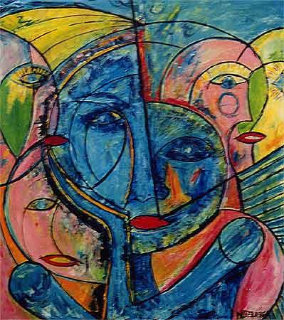 "Untitled, 2000  40 x 36"". Acrylic on canvas"