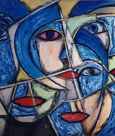 """Pink Eye, 2002  61 x 49"""". Acrylic on canvas"""