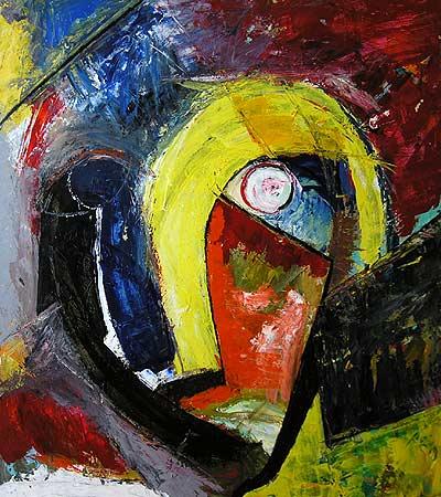 "Alfred, 2007 56 x 50"". Acrylic on canvas"