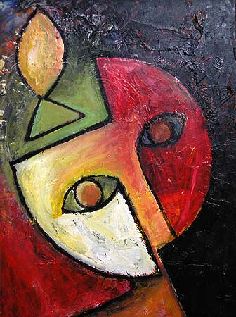 "Mind, 2005 30 x 24"". Acrylic on canvas"
