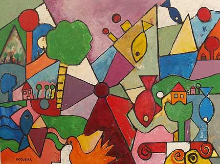 "Home in Glen Ridge, 2007 40 x 54"". Acrylic on canvas"