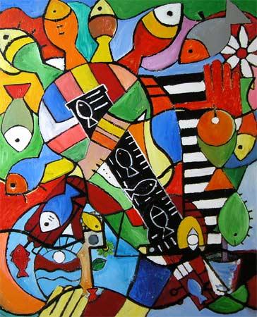 """Music, 2005 48 x 36"""". Acrylic on canvas"""