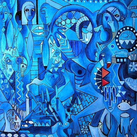 "Petrolium On Canvas, 2005 74 x 72"". Acrylic on canvas"