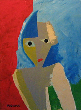 "(Portrait), 1, 2005 30 x 24"". Acrylic on canvas"