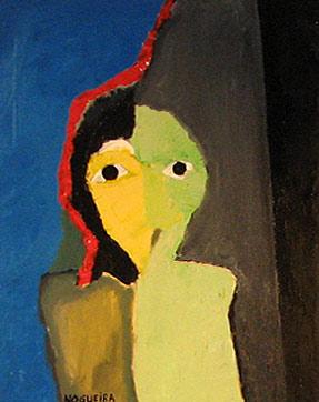 "(Portrait), 3, 2005 30 x 24"". Acrylic on canvas"