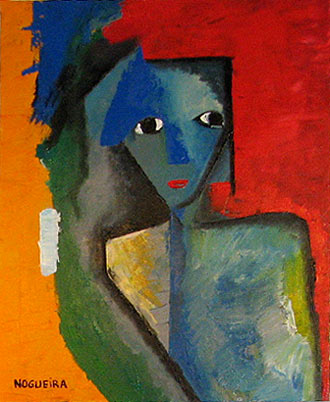 "(Portrait), 4, 2005 30 x 24"". Acrylic on canvas"