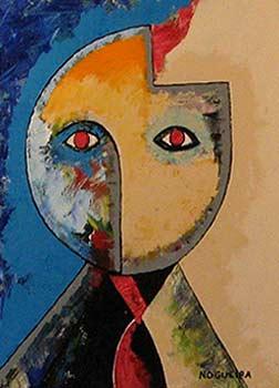 "(Portrait), 5, 2005 30 x 24"". Acrylic on canvas"