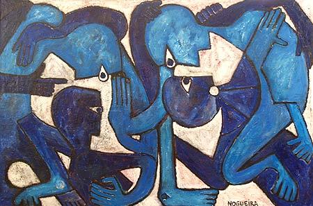 "Push, 2007 40 x 60"". Acrylic on canvas"