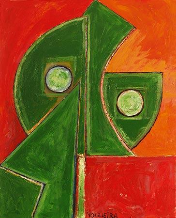 """Pushed, 2008 30 x 24"""". Acrylic on canvas"""