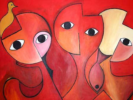 "Untitled, 2005 44 x 50"". Acrylic on canvas"