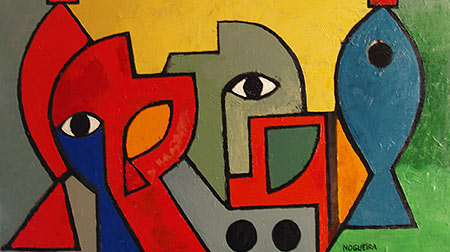 "Red Light, 2008 30 x 54"". Acrylic on canvas"