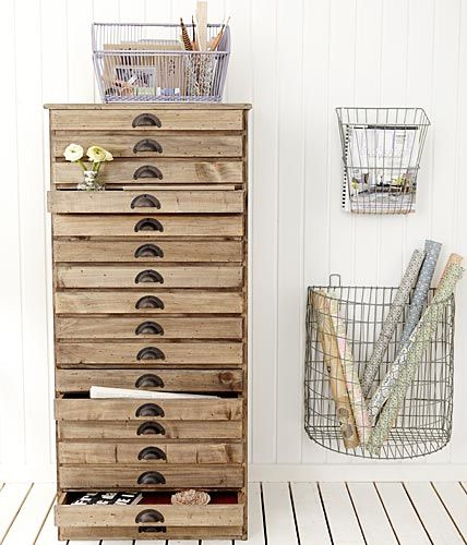 Wall baskets.    (Photo: Living At Home)