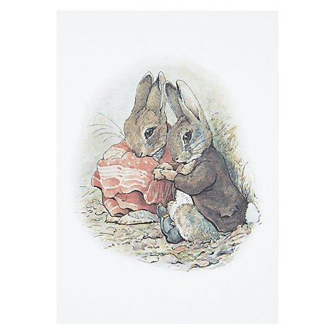 Illustration  Why pay for an expensive print when this Beatrix Potter card looks just as good? Ideal for a nursery or reading nook.    £2.50, John Lewis.