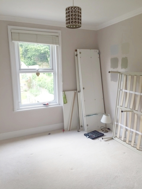 Neutral spare room, which was quickly becoming a dumping ground for random objects e.g. golf clubs, sleeping bags!
