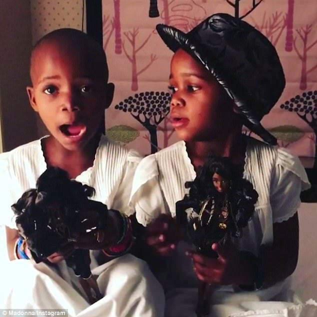 Meet Esther and Stella, Madonna's twin daughters, age 4, from Malawi.