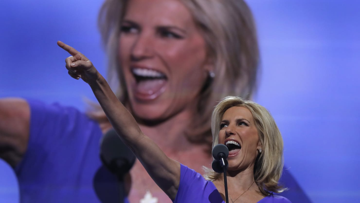 Laura Ingraham speaking for Trump at 2016 Republican convention.