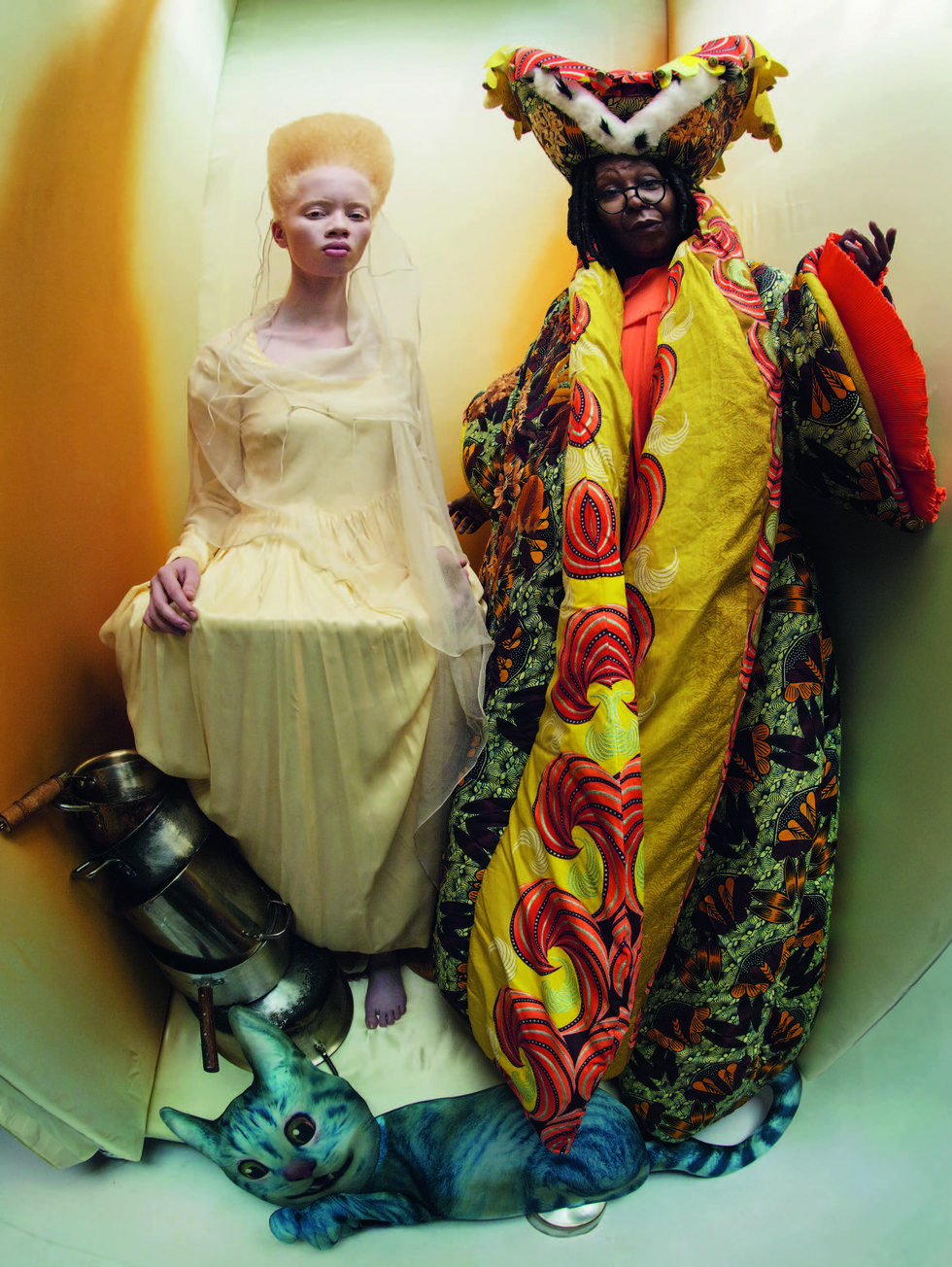 Thando Hopa 'The Queen of Hearts' and Whoopi Goldberg 'The Royal Duchess'.