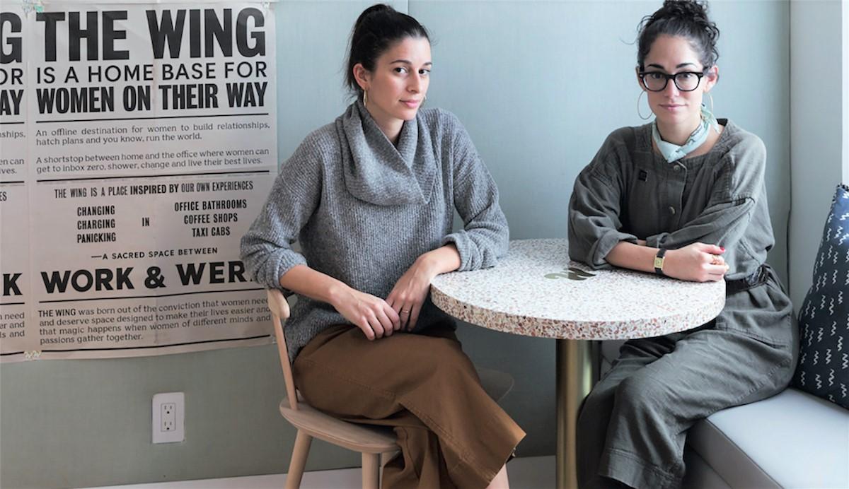 The Wing's founders, Lauren Kassan and Audrey Gelman.