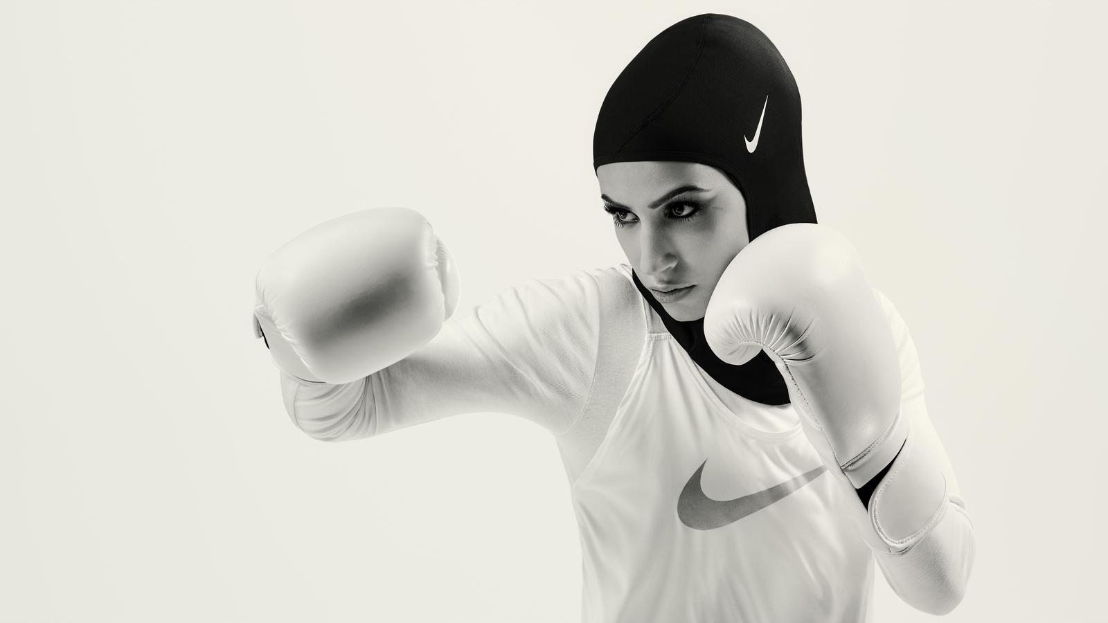 The designers gave that initial prototype to a variety of athletes, including weightlifter Amna Al Haddad and figure skater Zahra Lari, both from the United Arab Emirates, to put the garment to the test in their respective sports. Everyday athletes from around the Middle East, including runners like Manal Rostom, a Nike Run Club Coach in Dubai, and Zeina Nassar, a German boxer, also assessed the hijabs. Nike gathered both the athletes' performance feedback and their reactions to the garment's appearance.