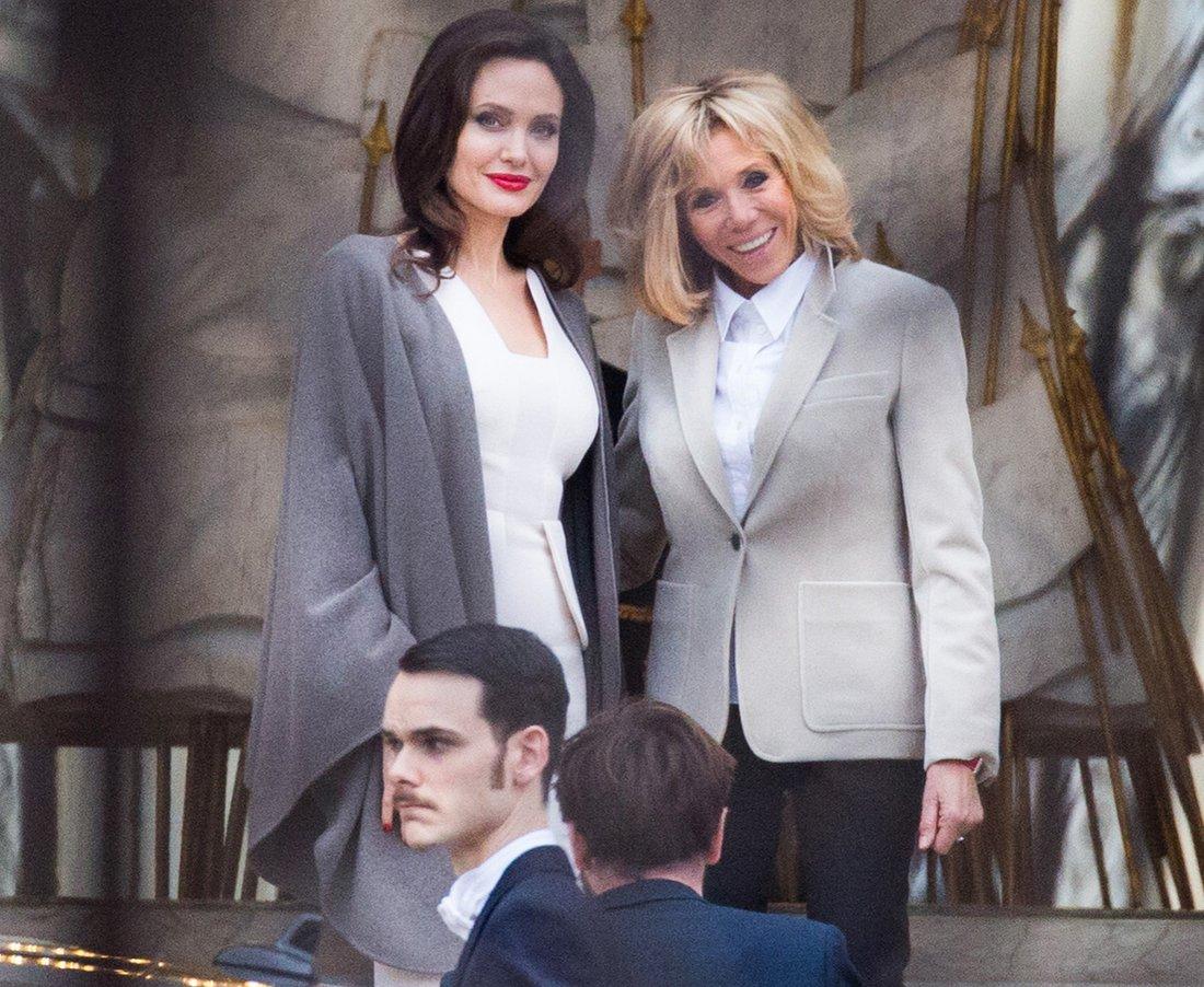 Angelina Jolie and Brigitte Macron