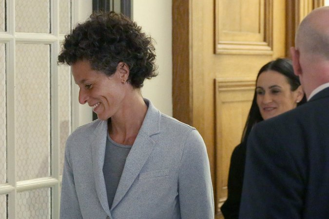 Andrea Constand exiting the courtroom during a break in the trial. She is the only woman whose complaint of sexual assault against Mr. Cosby resulted in a criminal trial. CreditPool photo by Agence France-Presse — Getty Images