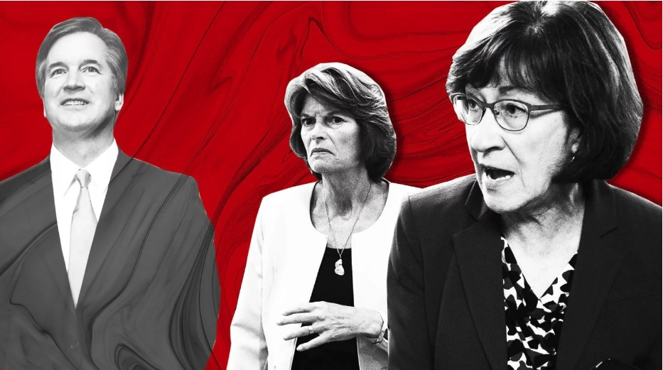 Republican Senators Susan Collins and Lisa Murkowski are key deciders about Judge Brett Kavanaugh's future. Photo Illustration by Lyne Lucien/The Daily Beast